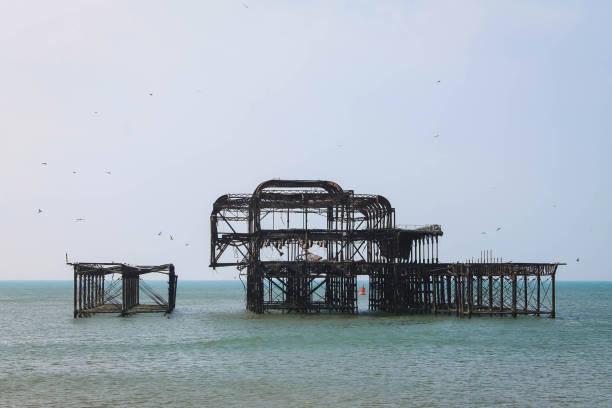 Brighton West Pier Ruins stock photo