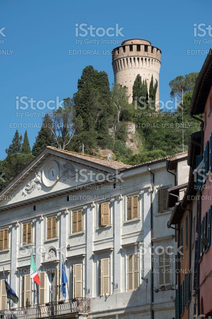Briighella (Ravenna, Italy): Guglielmo Marconi square - foto stock