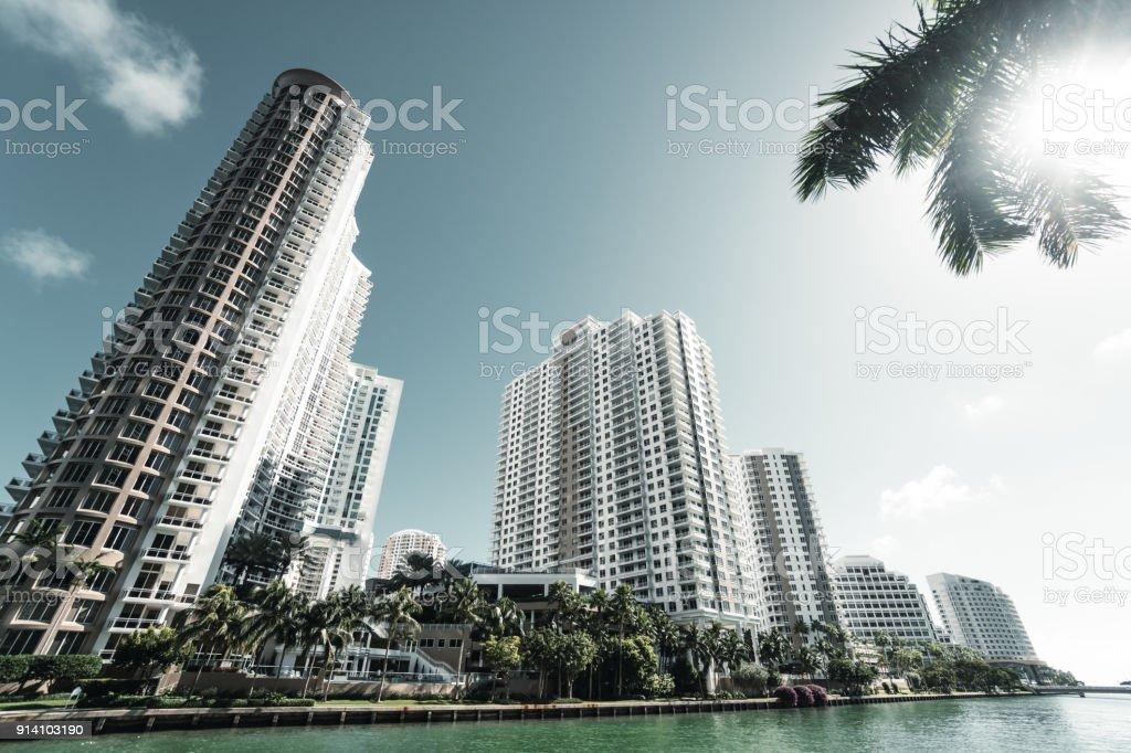 brikell skyline in miami stock photo