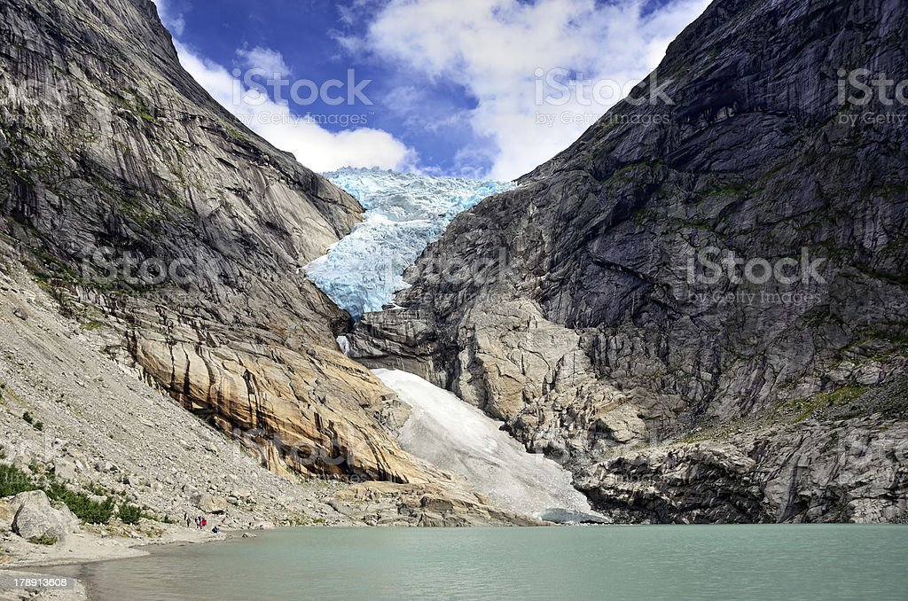 Briksdal glacier, Norway royalty-free stock photo