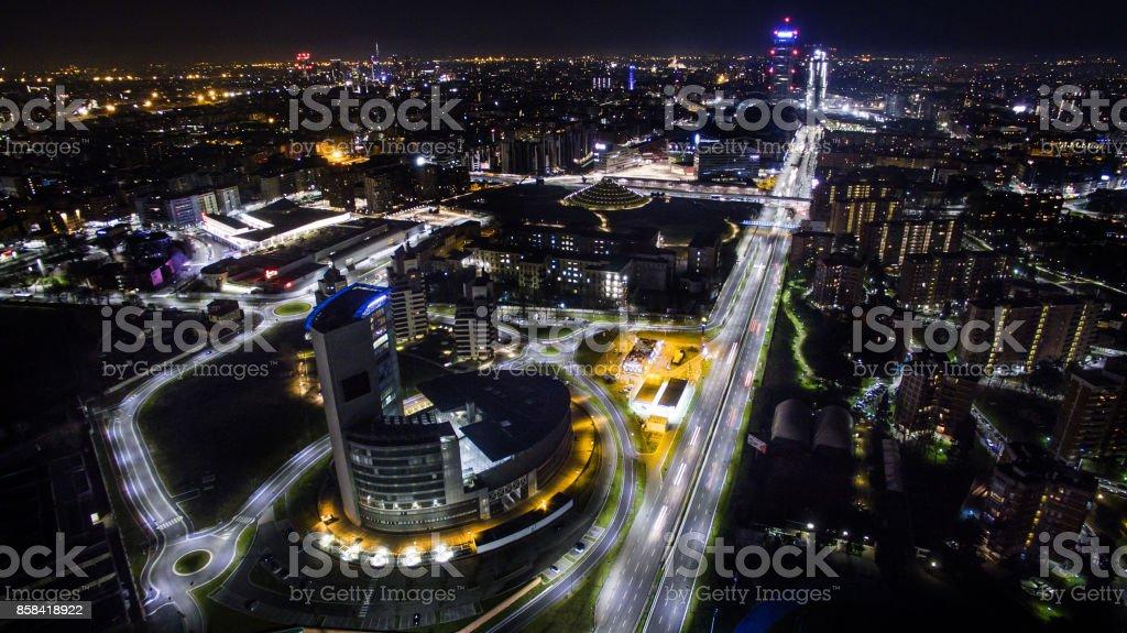 brillant night city stock photo