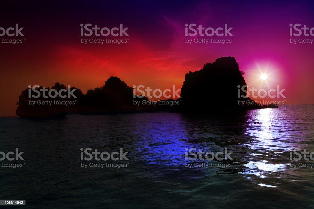Brillant sunset Thailand royalty-free stock photo