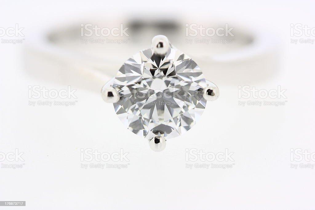 Brilliant Cut Ladies diamond engagement ring jewellery stock photo