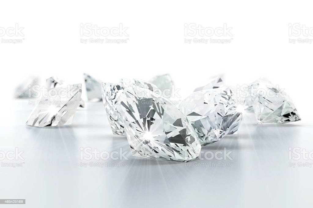 brilliant diamond jewel (high resolution 3D image) stock photo