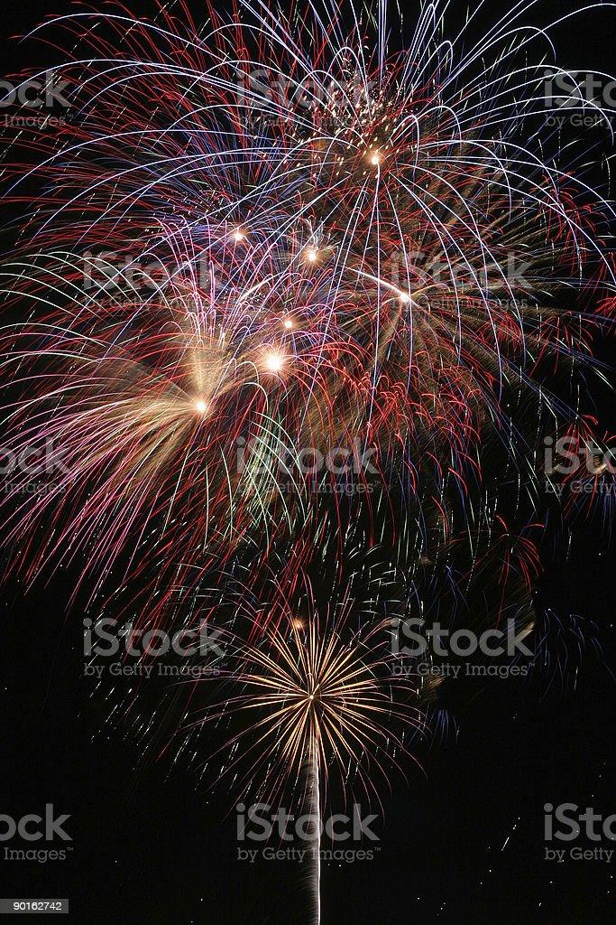 Brilliant Fireworks royalty-free stock photo