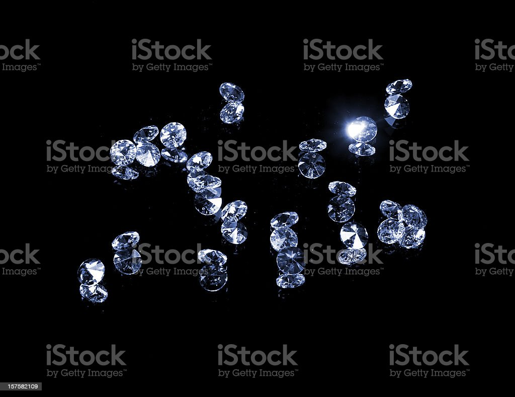 brilliant gems, isolated on black stock photo
