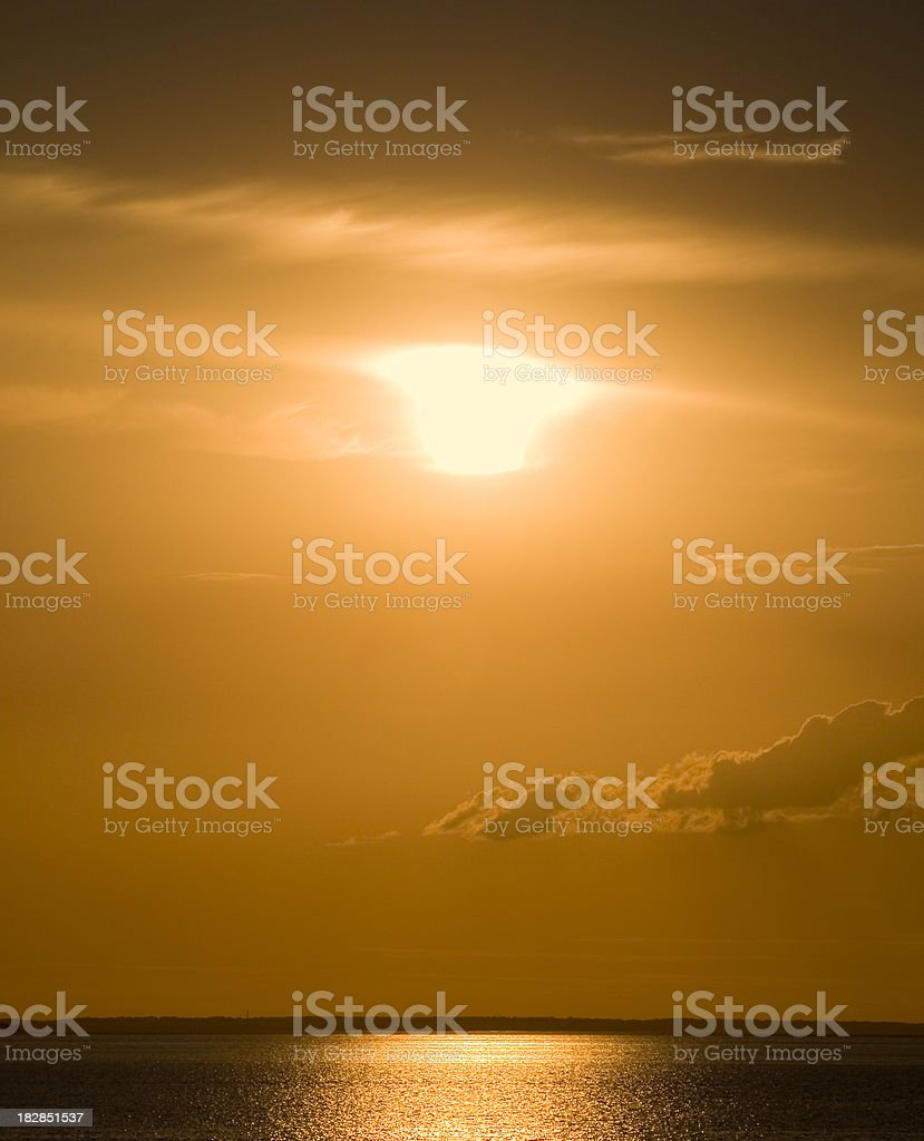 Brilliant orange sunset royalty-free stock photo