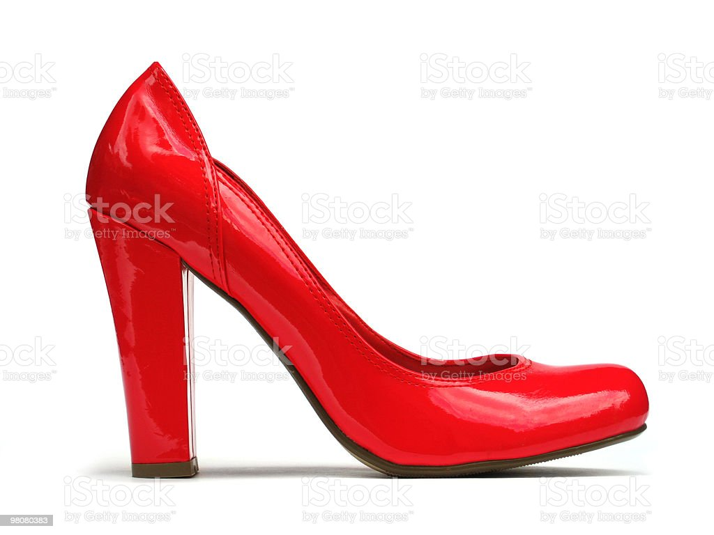 Brilliant Red Shoe (with clipping path) royalty-free stock photo