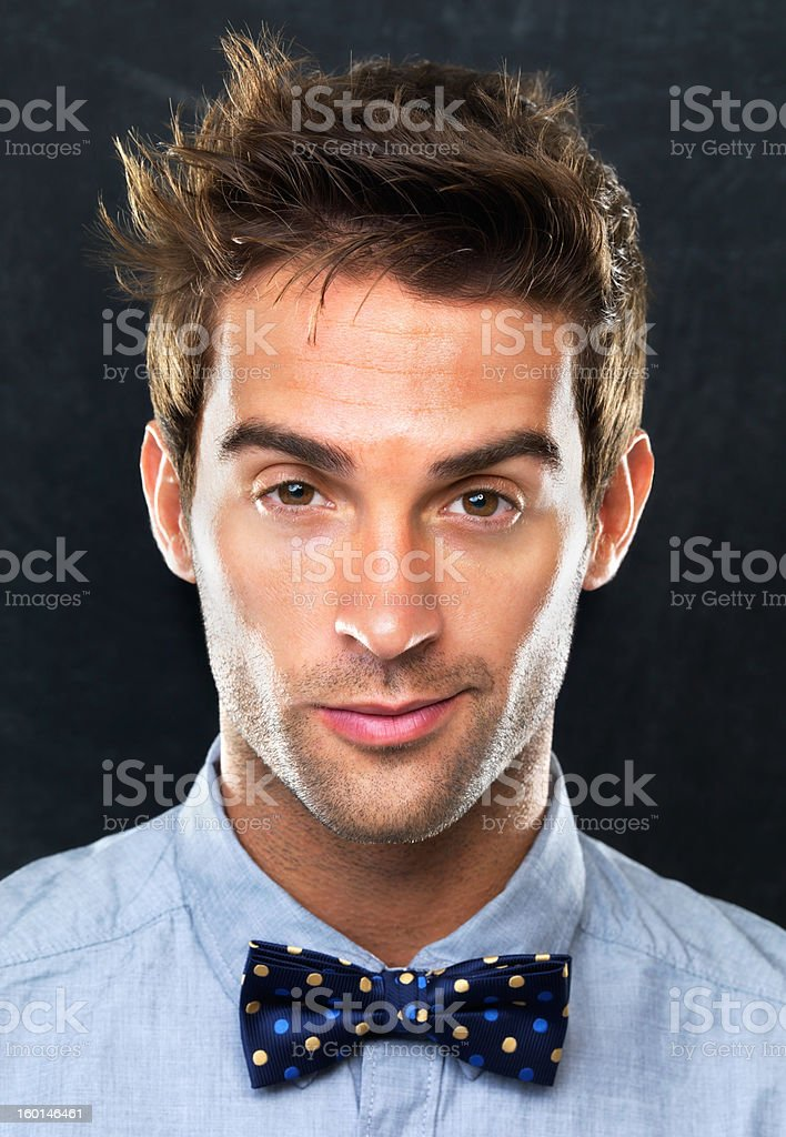 Brimming with confidence stock photo
