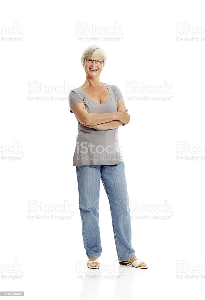 Brimming with confidence royalty-free stock photo