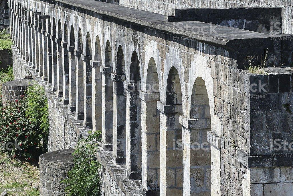 Brimstone Hill Fortress barracks, St Kitts stock photo