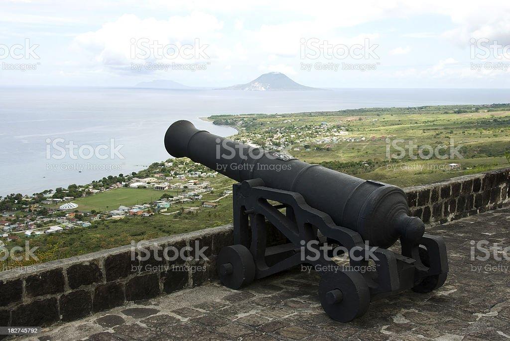 Brimstone Hill Fortress on Caribbean Island St Kitts stock photo