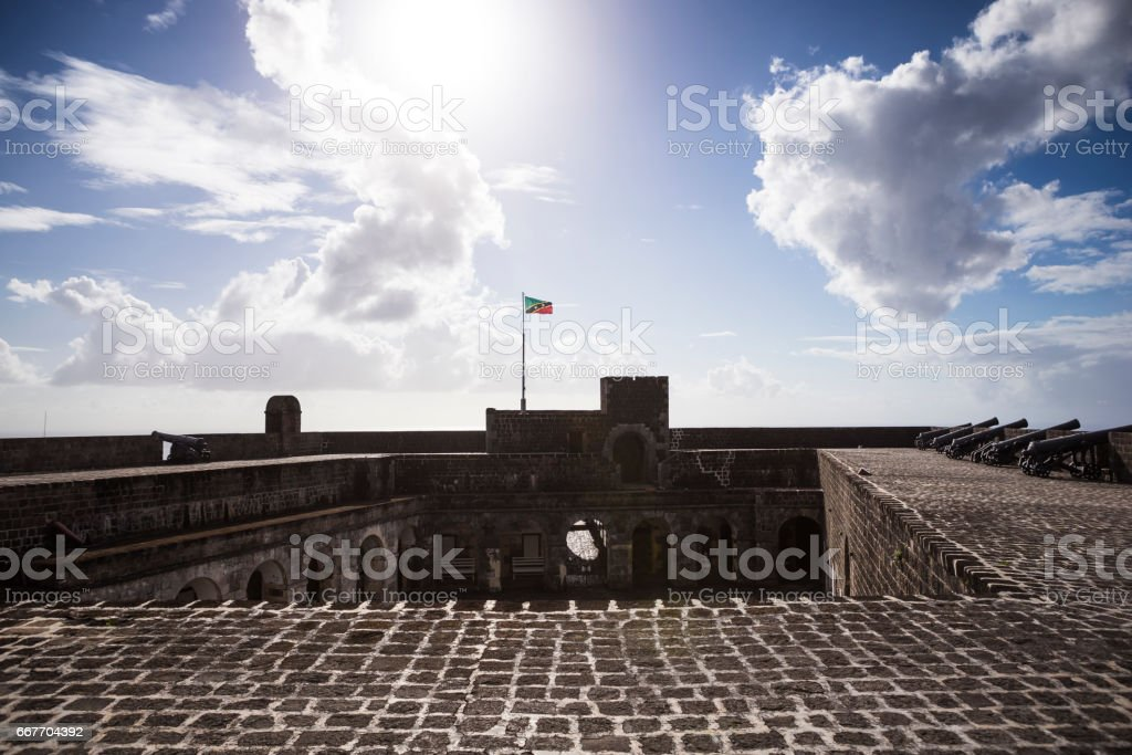 Brimstone Hill Fortress on St. Kitts stock photo