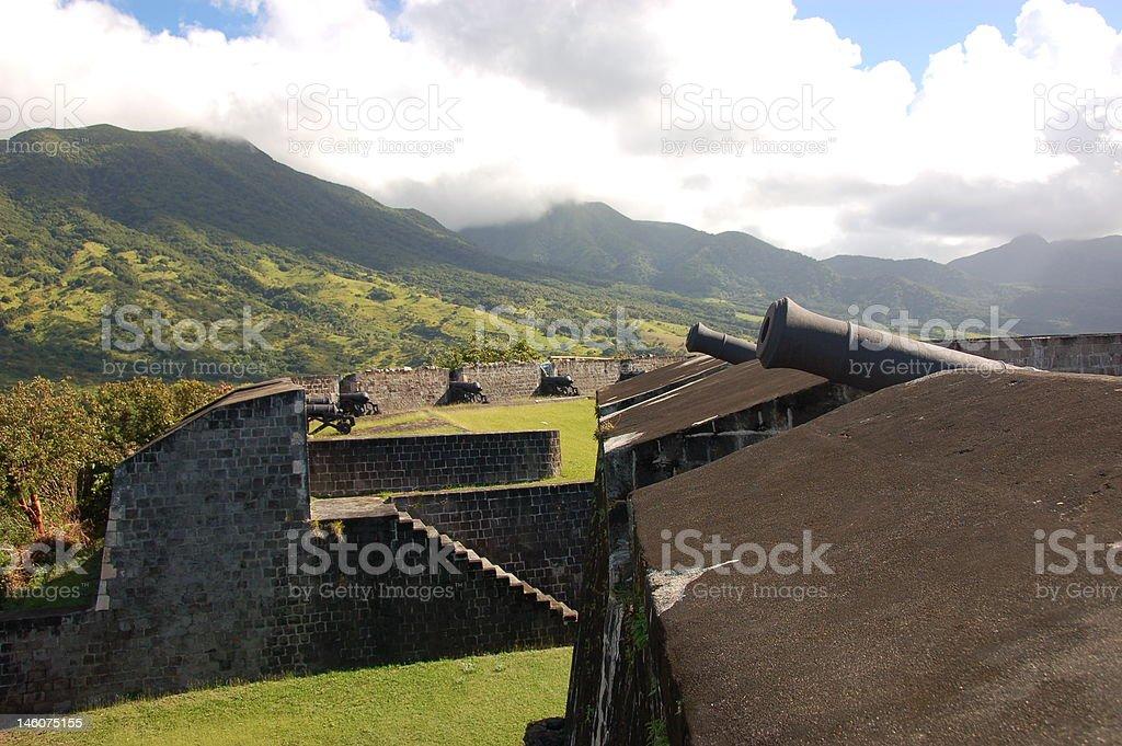 Brimstone Hill Fortress stock photo