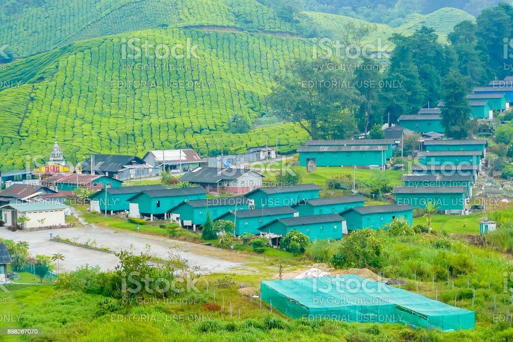 Brinchang village in Cameron Valley of tea plantations Malaysia stock photo