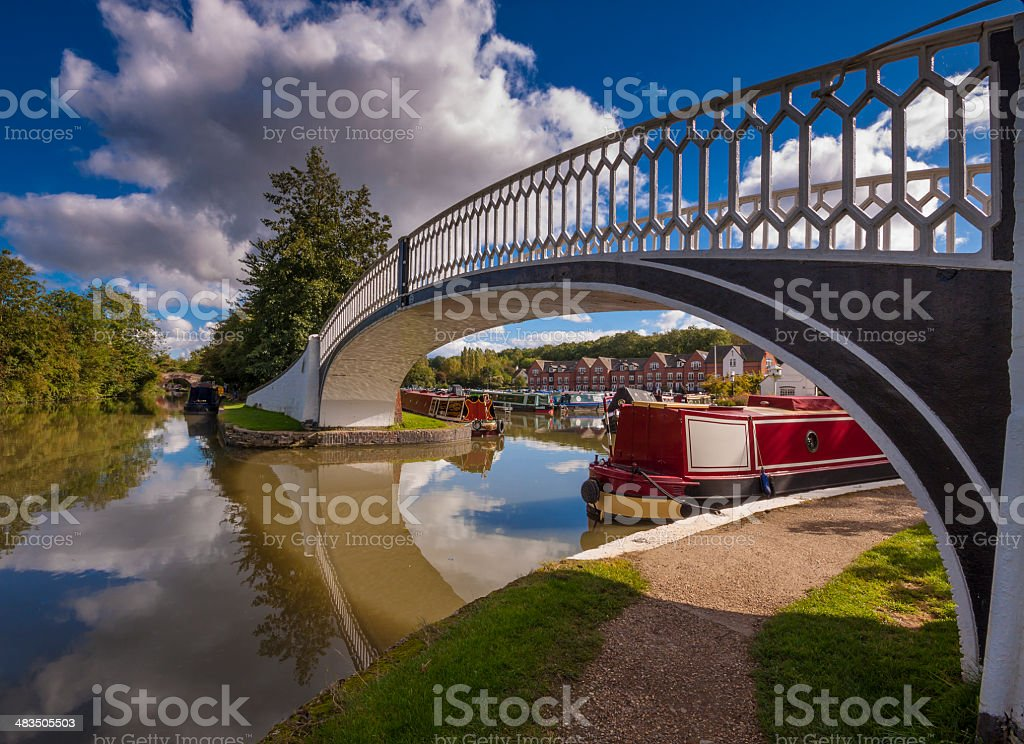 Brindley Quays Iron Bridge stock photo