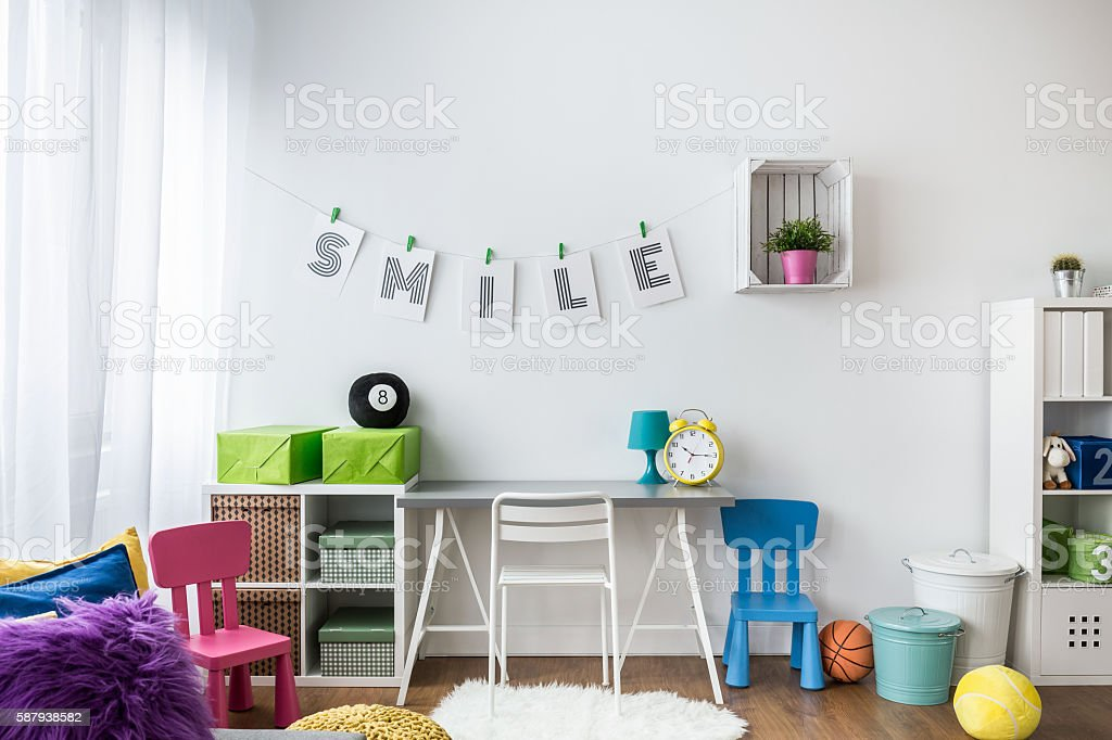 Bring on the color for kids stock photo