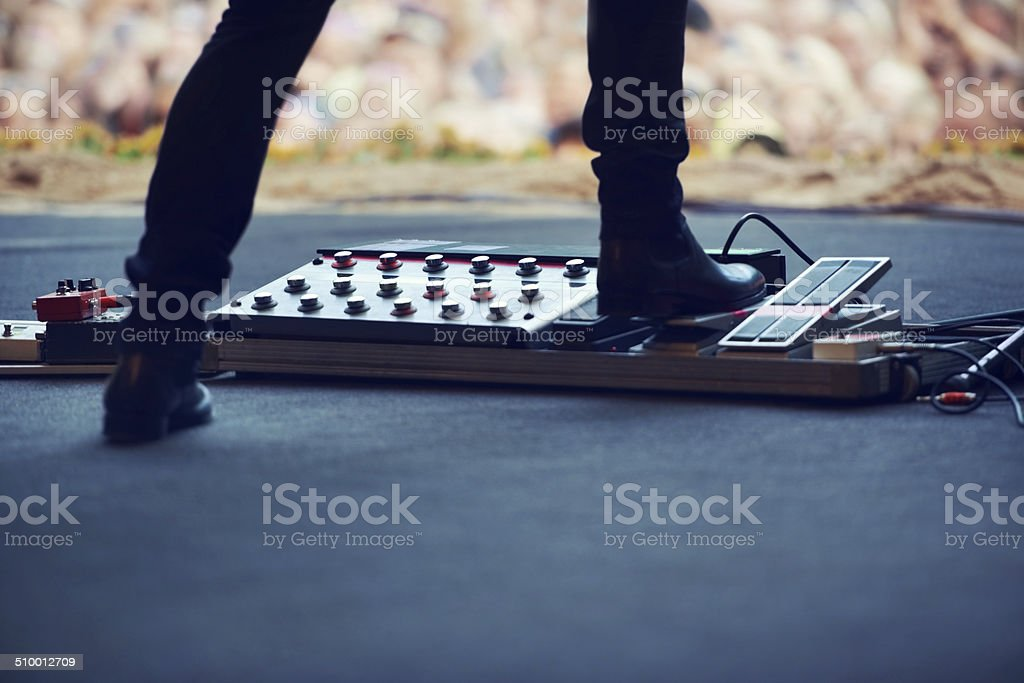 Bring the distortion! stock photo