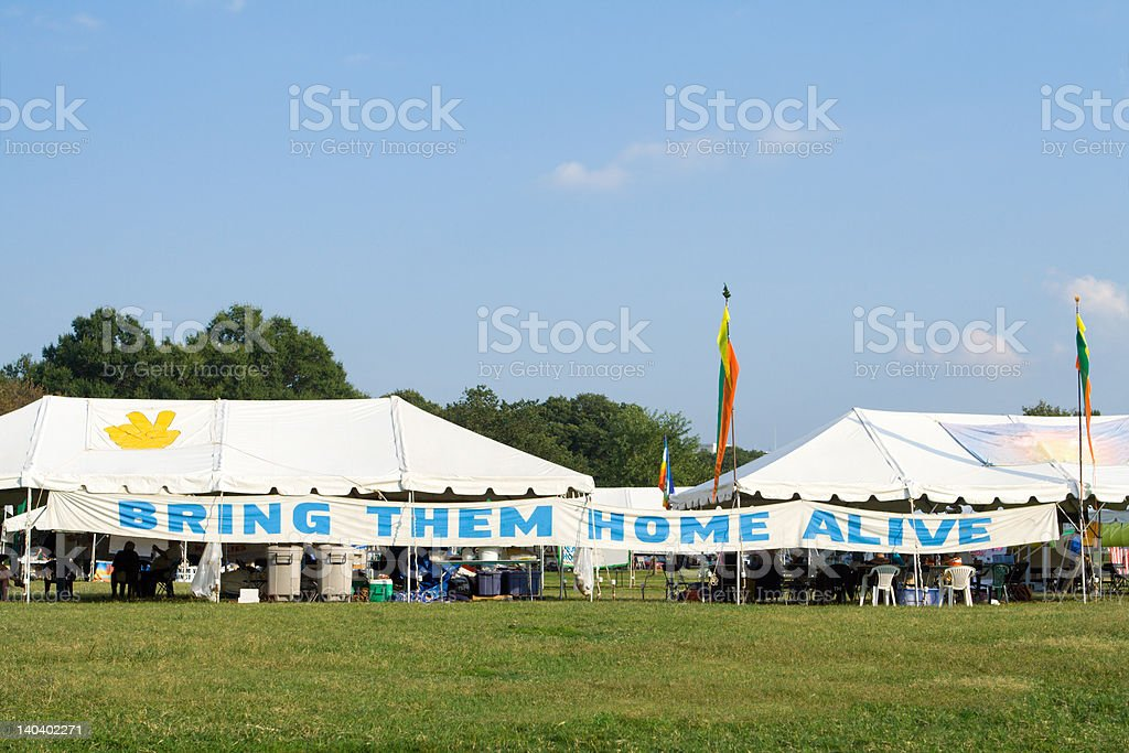 Bring Them Home Alive Tent Anti-War Protest National Mall royalty-free stock photo