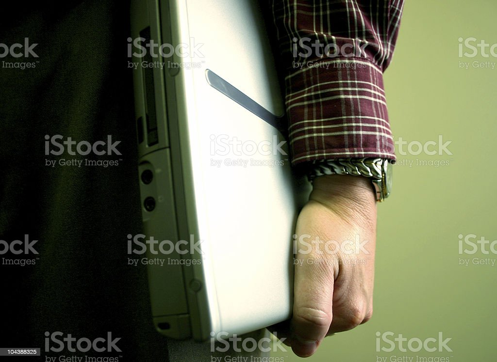 Bring your laptop royalty-free stock photo