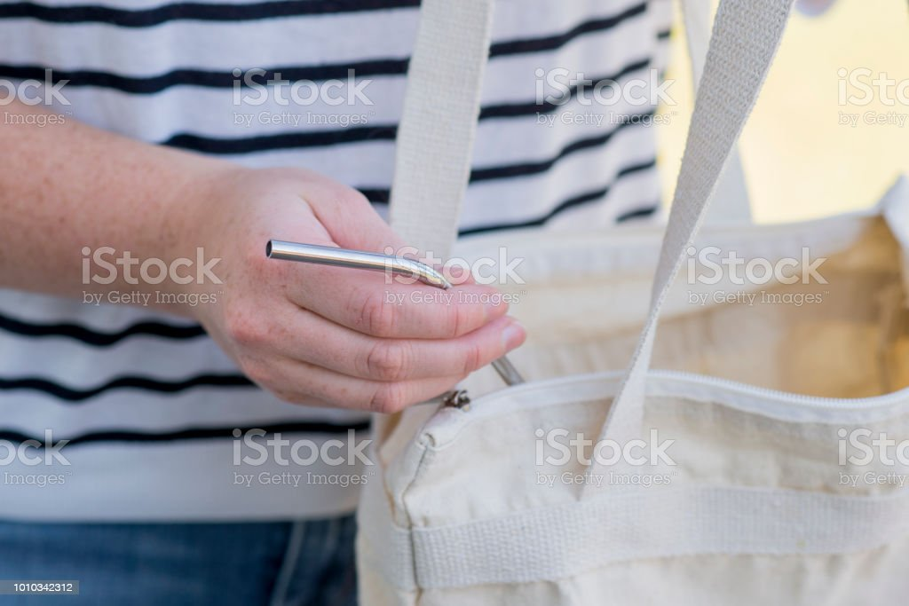 Bring Your Own Straw stock photo
