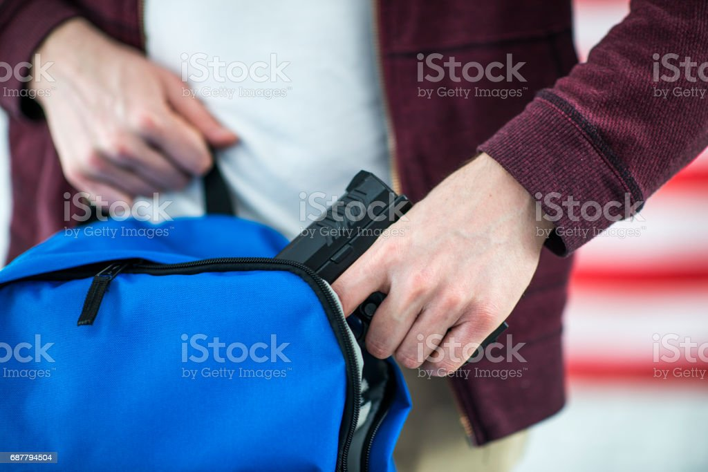 Bringing a Weapon to School stock photo