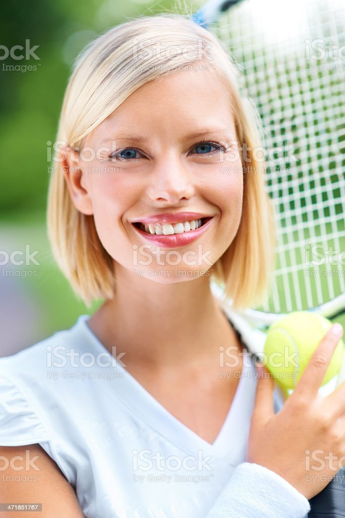 Bringing beauty to the game royalty-free stock photo