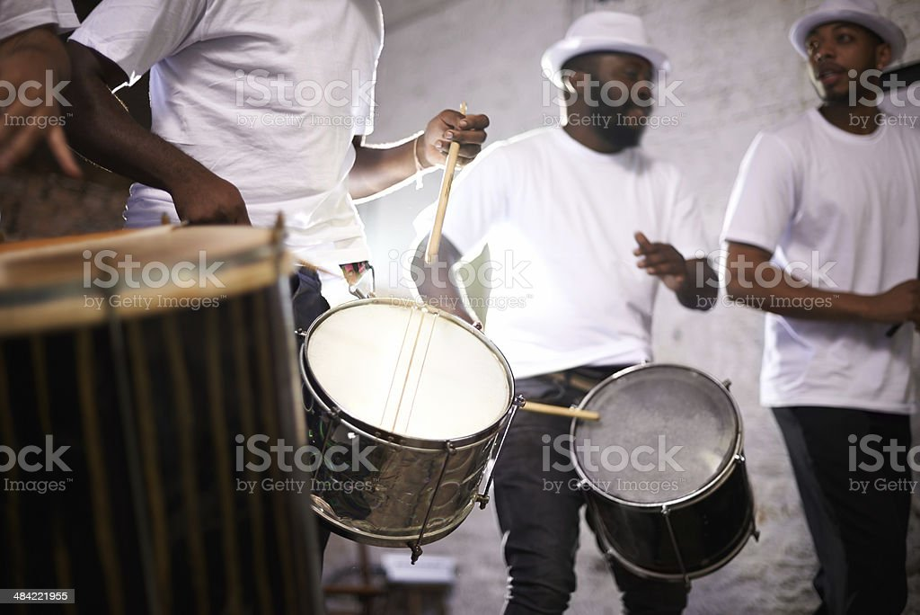 Bringing Brazil to life with their beats stock photo