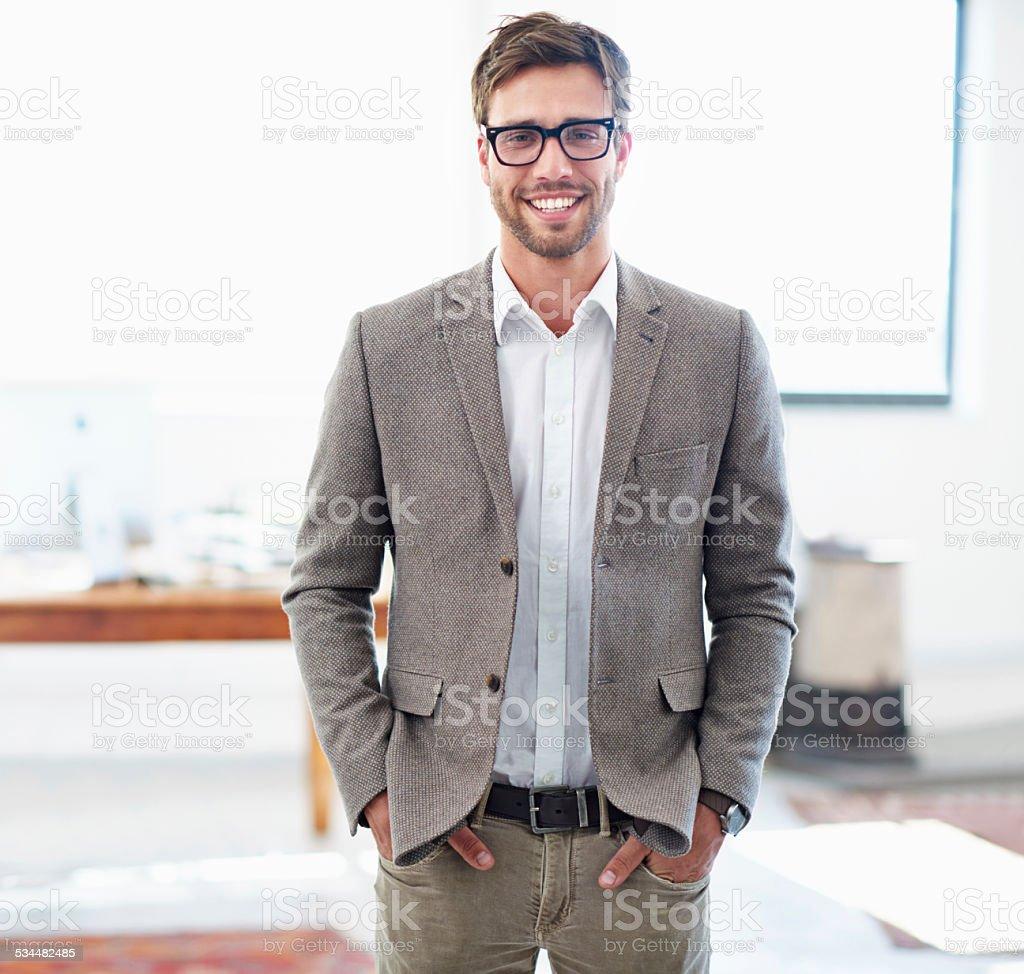 Bringing fresh ideas to the company stock photo