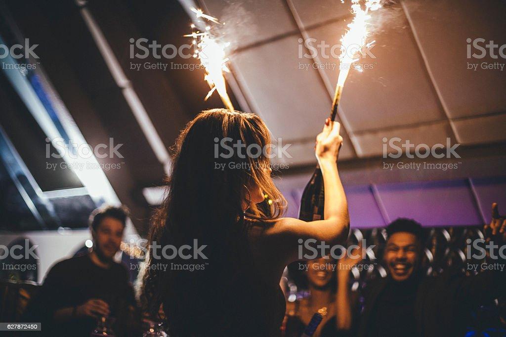 Bringing in the Champagne - foto de stock