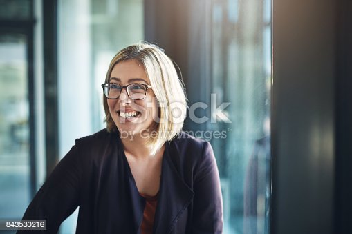 Shot of a happy businesswoman in a modern office
