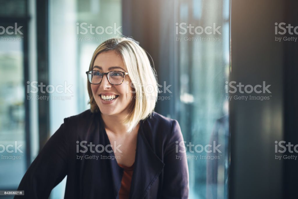 Bringing positive energy to the workplace stock photo