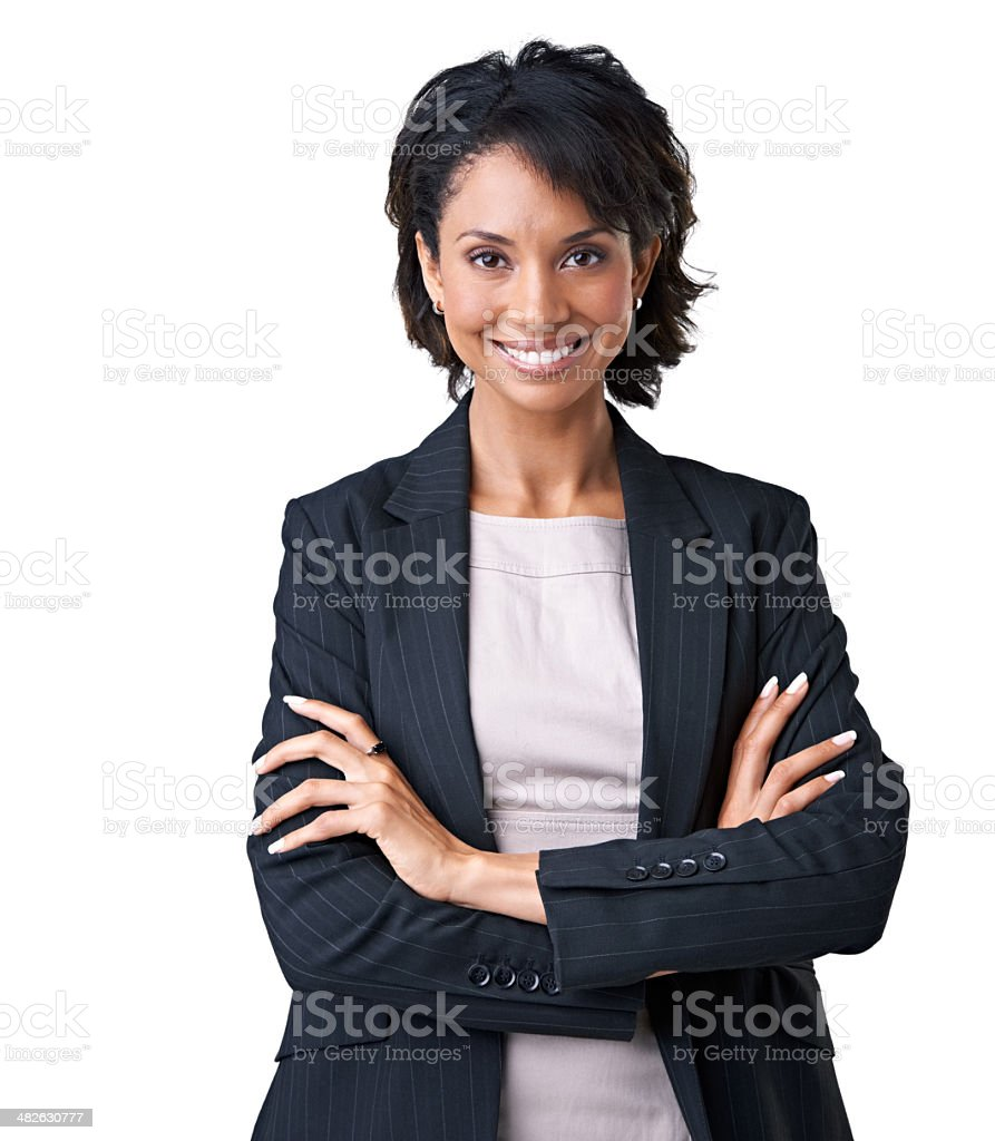 Bringing positivity to her workplace stock photo