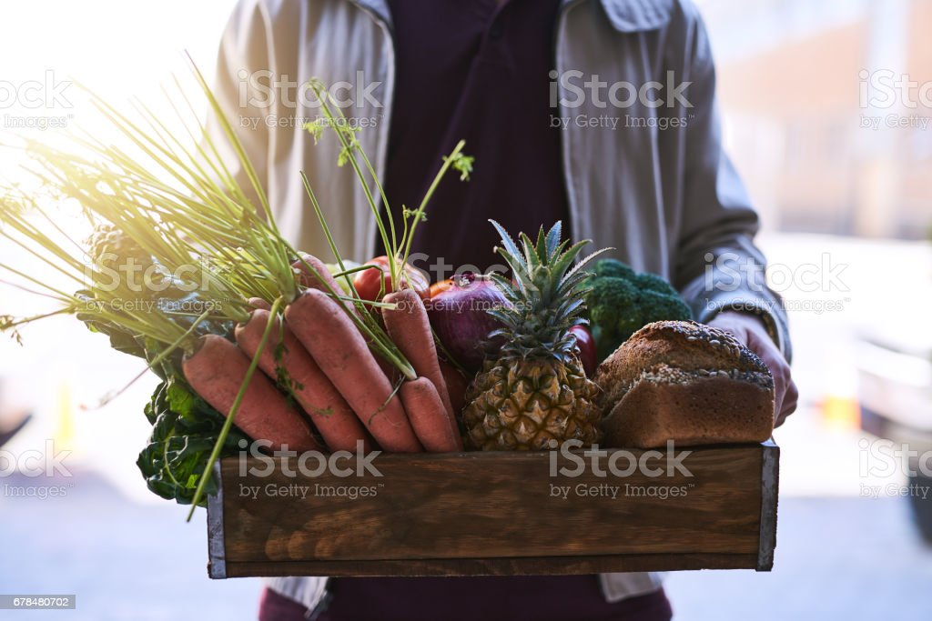 Bringing the grocery store to you stock photo