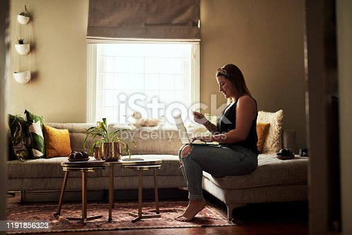 933417662 istock photo Bringing the stores right to her sofa 1191856323