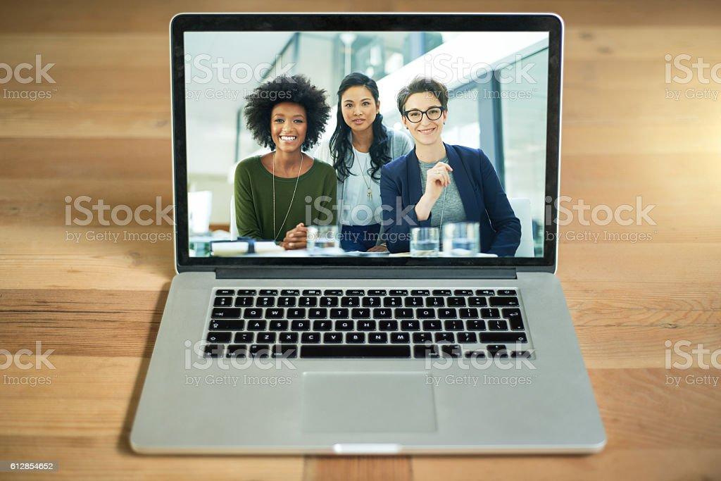 Bringing you closer to your team stock photo