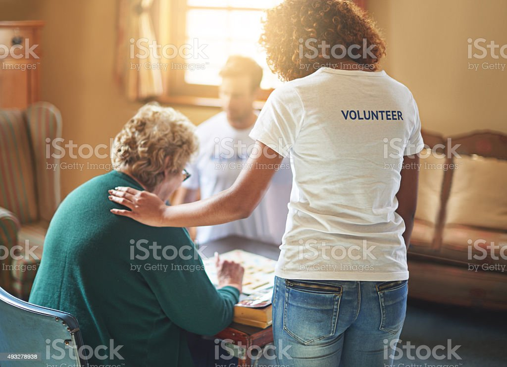 Brining joy into their lives stock photo