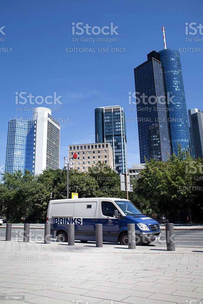 Brinks money transport stock photo