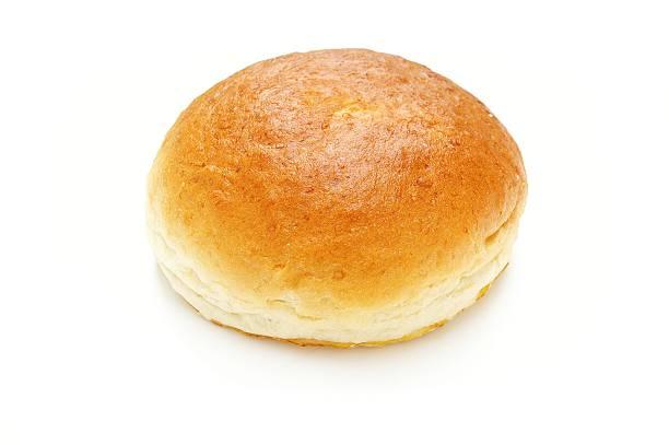 brioche bread bun on white background brioche bread bun on white background sweet bun stock pictures, royalty-free photos & images