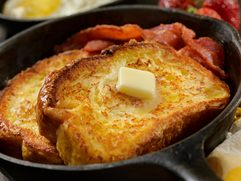 Brioche French Toast with Maple Syrup, Bacon and Hashbrowns-Photographed on Hasselblad H3D-39mb Camera