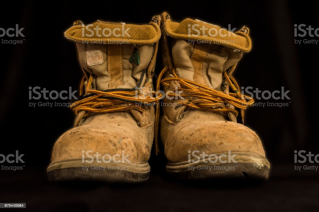 Bri's Workboots photo libre de droits