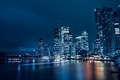 City of Brisbane, Australia at night.