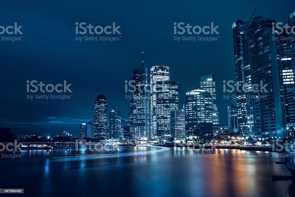 Brisbane at night stock photo