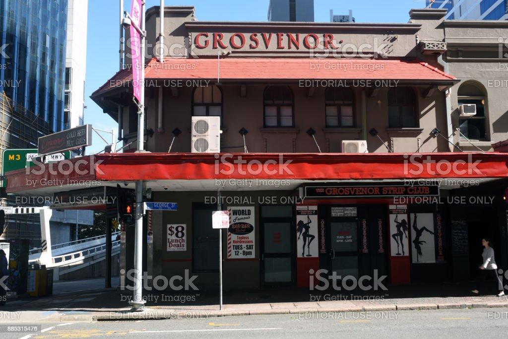 Brisbane, Australia: Grosvenor Hotel stock photo