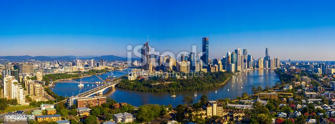 Aerial Shot of Brisbane City