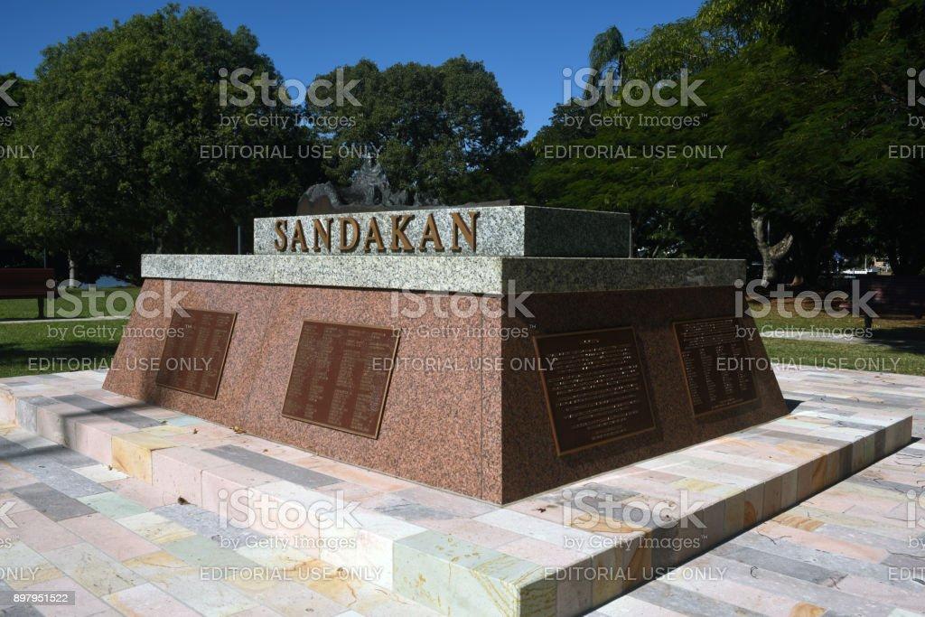 Brisbane, Australia: Sandakan War Memorial stock photo