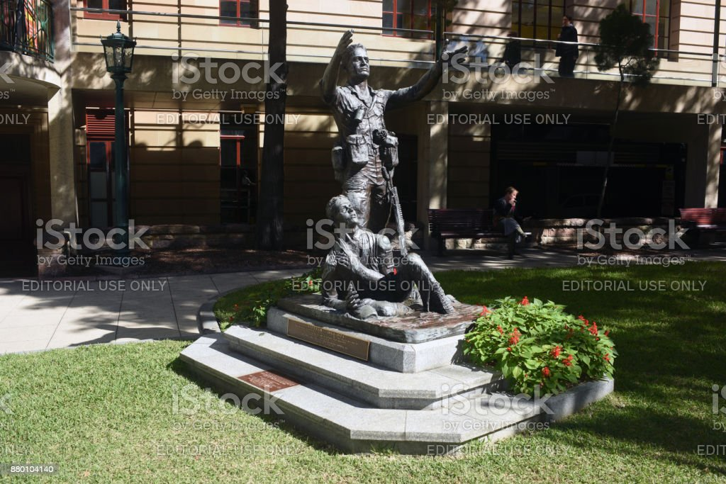 Brisbane, Australia: Vietnam War Memorial in Anzac Square stock photo