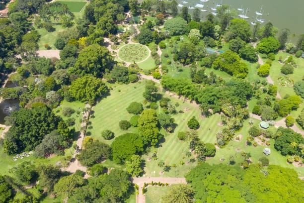 Brisbane City Botanic Gardens with Marina, Queensland, Australia stock photo