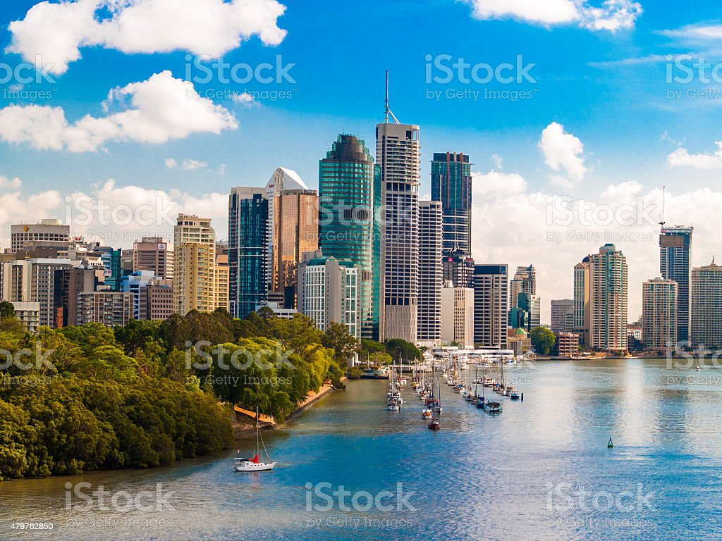 Brisbane City CBD, Queensland, Australien – Foto