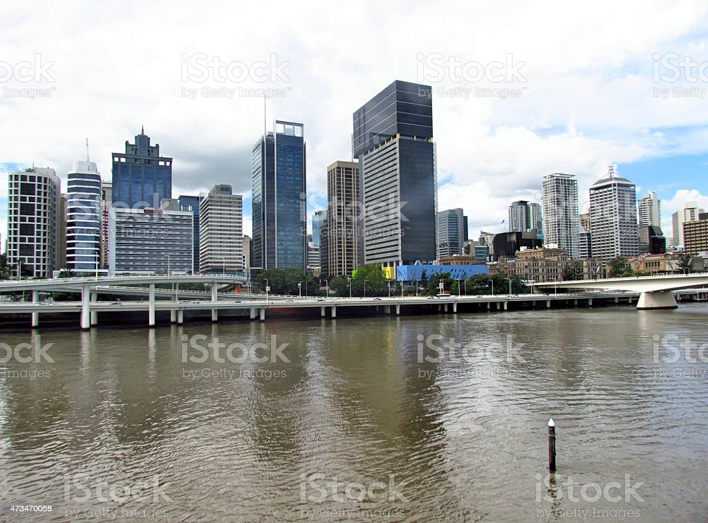 Brisbane City Centre from Across the River stock photo